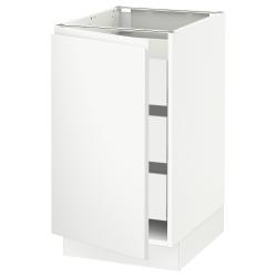 SEKTION/MAXIMERA Base cabinet with 1 door/3 drawers