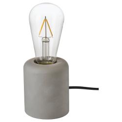 RÅSEGEL/LUNNOM Pie lámpara mesa+bomb