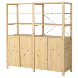 IVAR 2 secciones/estantes/clóset