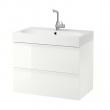 GODMORGON Armario lavabo 2 caj 80cm (sin grifo)